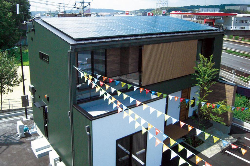早島展示場太陽光発電システム