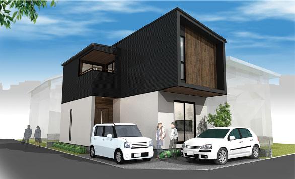 家事動線をコンパクトに設計した狭小地対応住宅