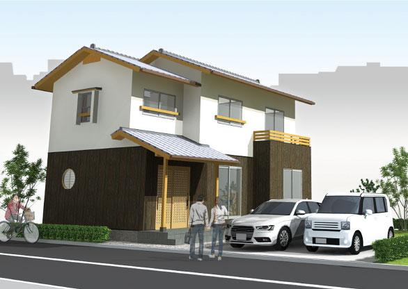 街の風景にとけこむ モダンジャパニーズの家