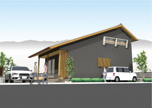 大空間を演出する 大屋根の家